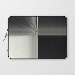 Modern Black White Block Zoom Design Laptop Sleeve