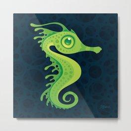 Leafy Sea Dragon Seahorse Metal Print