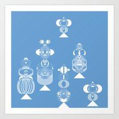 blue menneke Art Print