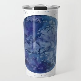"""Full moon in blue """"Once in a blue moon"""" Travel Mug"""
