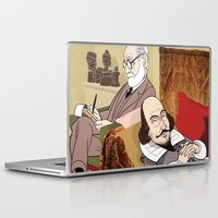 freud Laptop & iPad Skins featuring Freud analysing Shakespeare by drawgood