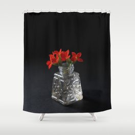 Red Succulent Blossoms Shower Curtain