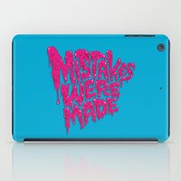 onesie iPad Cases featuring Mistakes were made. by Chris Piascik