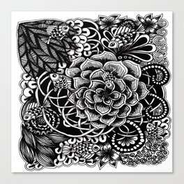 Zentangle Fishes! Fishes! Fishes! Canvas Print