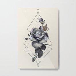 Geo Rose II Metal Print