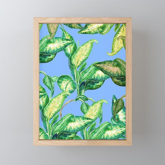blue nature Framed Mini Art Print