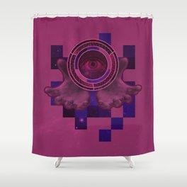 weird eye , hand , space thing ? Shower Curtain