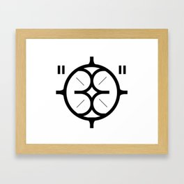 "33 ""GOD"" Framed Art Print"