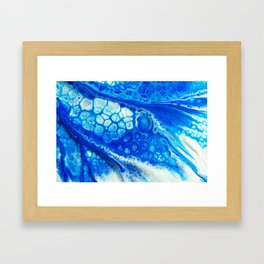 Blue cells Framed Art Print