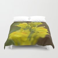 montana Duvet Covers featuring Montana  Wildflower by Lori Anne Photography