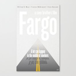 Film Friday No. 6, Fargo Canvas Print