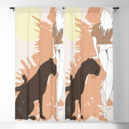 Beauty and the beast Blackout Curtain