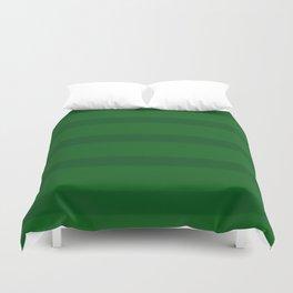 Emerald Green Organic Stripes Duvet Cover