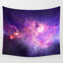 Purple space Wall Tapestry