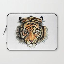 Tiger head watercolor Laptop Sleeve