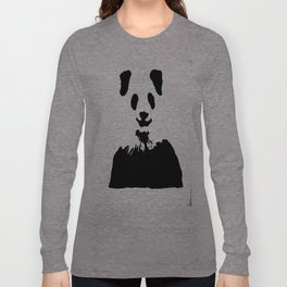 Pandas Blend into White Backgrounds Long Sleeve T-shirt