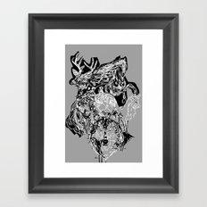 Urban animals Framed Art Print