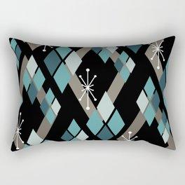 Mid Century Modern Diamonds (Black) Rectangular Pillow
