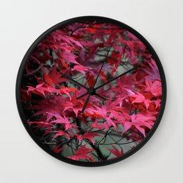 Japanese Maple Wall Clock