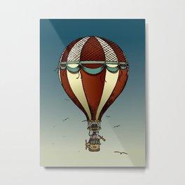 Fantastic voyage of Mr. Pig Metal Print
