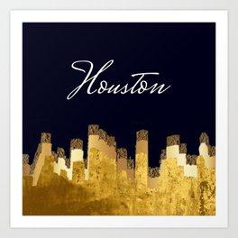 Golden Houston Art Print