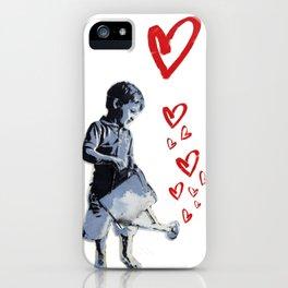 Urban Street Art: Banksy-Style Graffiti Stencil iPhone Case