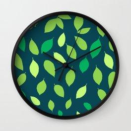 Lemon Leaves Wall Clock