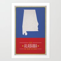 alabama Art Prints featuring ALABAMA by Matthew Justin Rupp