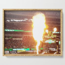 MX Supercross Explosive Fire Serving Tray