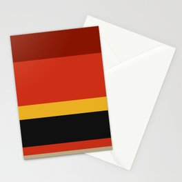 A particular tailoring of Dark Green Blue, Ming, Khaki (Html/Css) (Khaki), Lanzones, Urobilin, Christmas Orange, Vermilion, Kenyan Copper and Chinese Black stripes. Stationery Cards