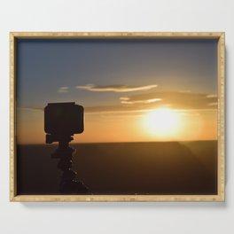 Sunset at Hopi Point, grand canyon Serving Tray