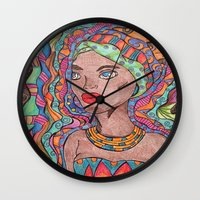 african Wall Clocks featuring African by havana
