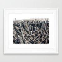 manhattan Framed Art Prints featuring Manhattan by Nicklas Gustafsson