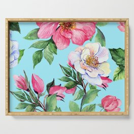 Clic Floral Elegance Luxurious Design Serving Tray