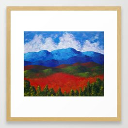 A View of the Blue Mountains of the Adirondacks Framed Art Print