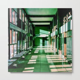 Couloir Cité Radieuse - Le Corbusier - Marseille  Metal Print