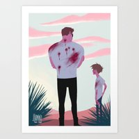 terminator Art Prints featuring TERMINATOR by JohannaTheMad
