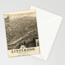 Map Of Littleton 1883 Stationery Cards