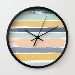 Pastel Stripes Wall Clock