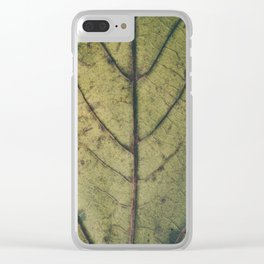 Leaf´s veins Clear iPhone Case