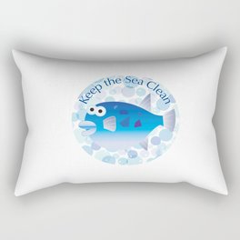 Keep the Sea Clean_Globefish Rectangular Pillow