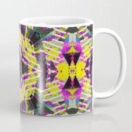 Retro 80s Neon Geometric Pattern Coffee Mug