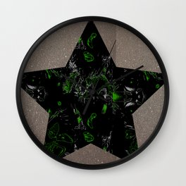 Star and sparkle Wall Clock