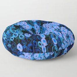 Blue Circles Quilling Floor Pillow