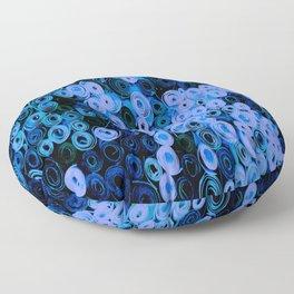 Blue Circles Quilling Floor Pillow