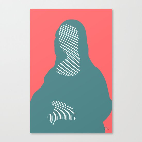 Mona, nu mach aber mal ein Punkt ·6 Canvas Print