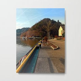 River Danube valley, at the harbour | waterscape photography Metal Print