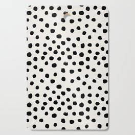 Preppy brushstroke free polka dots black and white spots dots dalmation animal spots design minimal Cutting Board