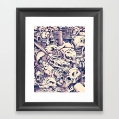 Skull Settlements Framed Art Print