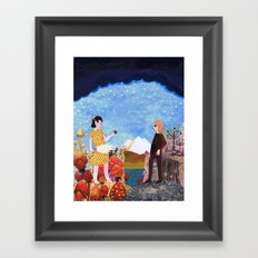 The Two Girls Framed Art Print